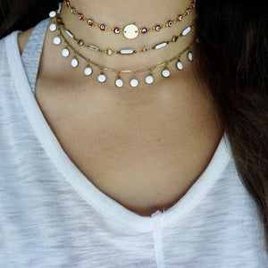 White Bubble Necklace