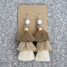 Neutral Tassel Earrings