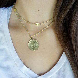 Grey + Gold Layer Necklace