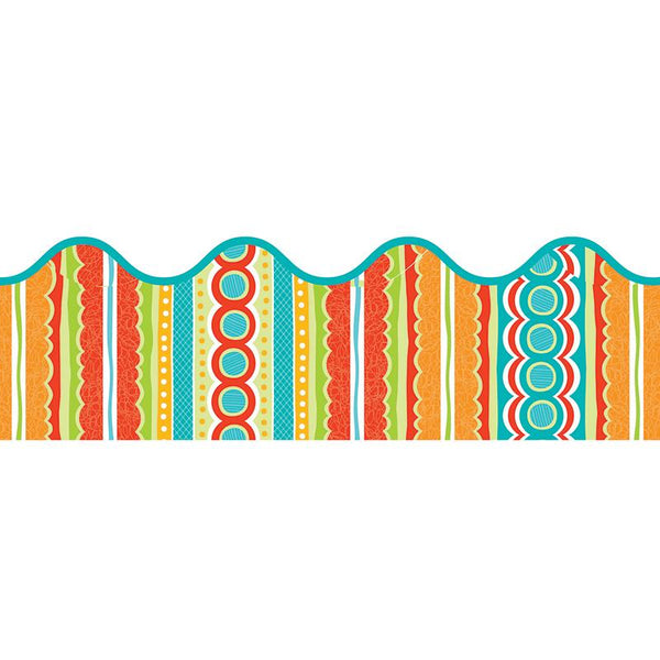 Tropical Twist Scalloped Border