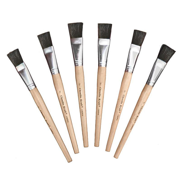 Stubby Easel Brushes 1in Wide 6pk