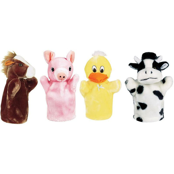 Farm Puppet Set I Includes Duck Pig Horse And Cow