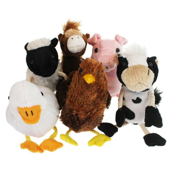 Farm Animals Finger Puppets 6st