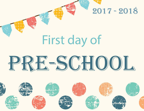 First Day of School Signs (Free Download)