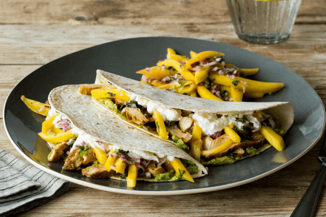 Smoked Chicken Tacos with Mango Salsa & Lime Crema (2 Meals)
