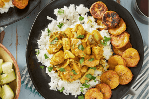 Jamaican Chicken Curry  with Roasted Plantain & Coconut Rice (2 Meals)