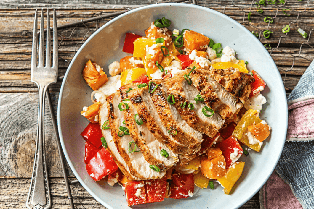 Southwest Chicken Sizzler with Sweet Potato, Bell Pepper, and Feta Mix (2 Meals)