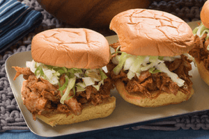 Pulled BBQ Chicken Sandwiches with Creamy Potato Salad  (2 Meals)