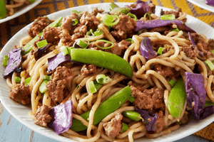 Beef Lo Mein with Garlic and Snap Peas (2 Meals)