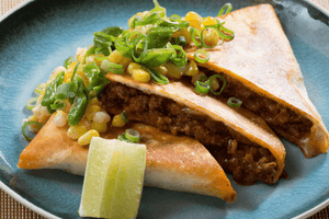 Mexican Beef Quesadillas with Corn and Pepper Salsa (2 Meals)