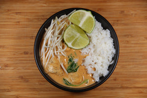 Chicken with Red Curry Peanut Sauce and Jasmine Rice (2 Meals)