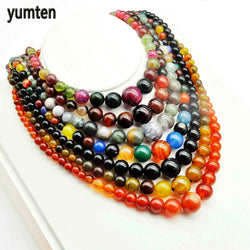 Yumten Natural Agate Chokers Chains