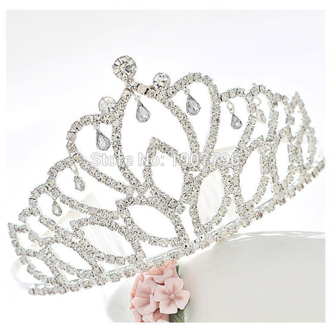 Gorgeous Pretty Birthday Rhinestone Tiara Crown