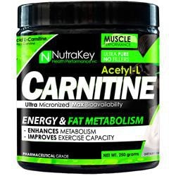 Nutrakey Acetyl L-Carnitine 250G 500/Sr - Good Deal Supplements