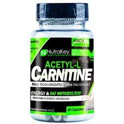 Nutrakey Acetyl L-Carnitine 60 Vcaps - Good Deal Supplements
