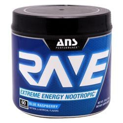 ANS Performance Rave Blue Raspberry 60/Serving - Good Deal Supplements