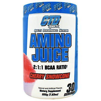 CTD LABS Amino Juice Cherry Snowcone 30 servings - Good Deal Supplements