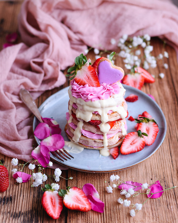 Strawberry & Cream Cheese Pancakes