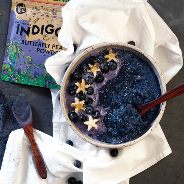 Butterfly Pea Oatmeal Bowl | Rawnice