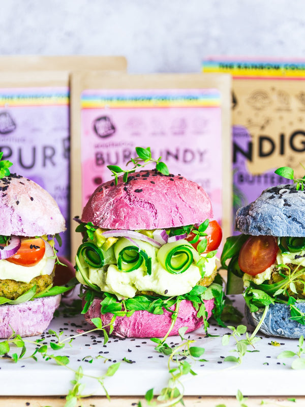 Colorful Veggie Burgers | Rawnice