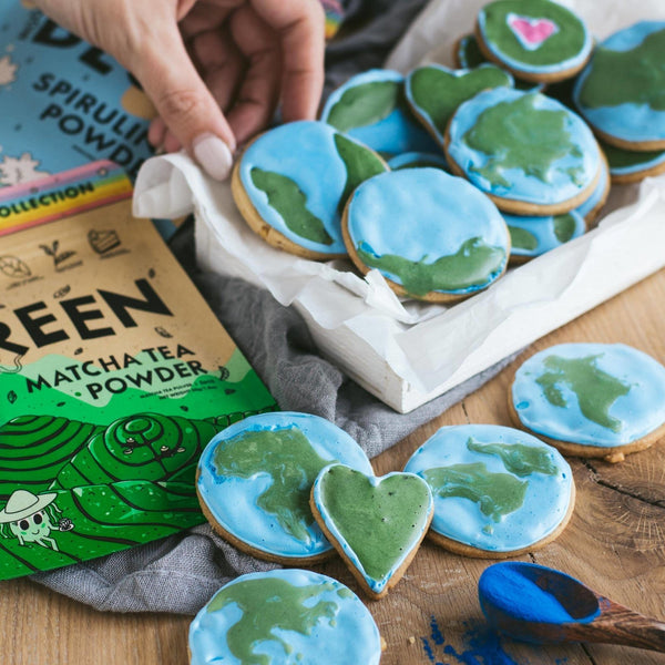 Earth Day Shortbread Cookies | Rawnice