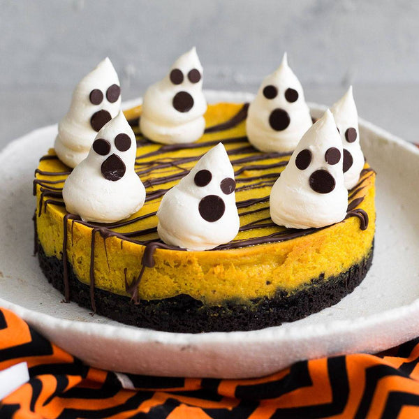 Halloween - Pumpkin Spiced Cheesecake | Rawnice