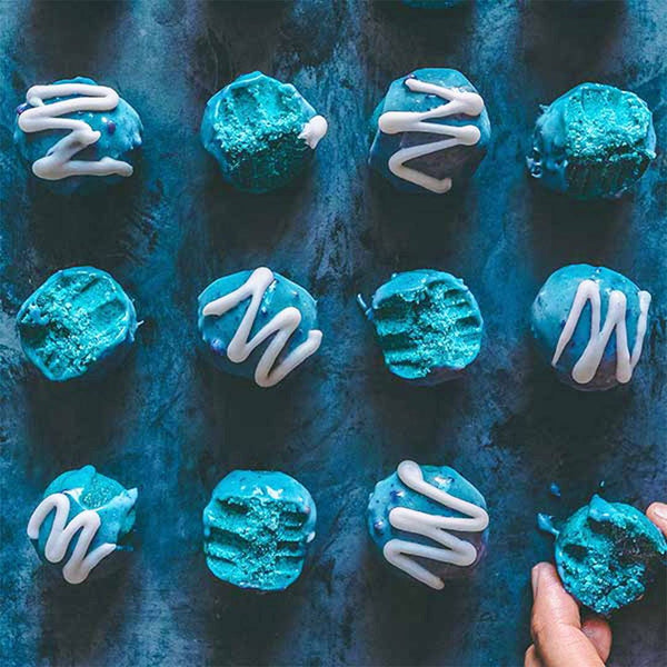 Mermaid Cake Bites | Rawnice