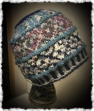 Messy Bun Fair Isle Hat Pattern PDF