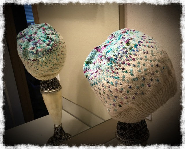 Falling Star Hat & Fingerless Gloves Pattern PDF