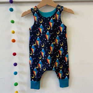 All seeing rainbow dungarees