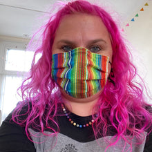 Rainbow Dots Face Cover