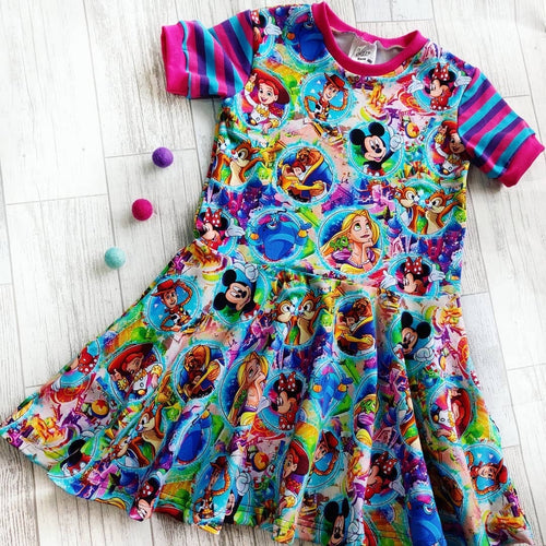 Character Bubbles Skater Dress