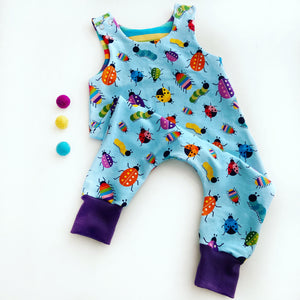 Toes' Bug Parade Dungarees (small scale)