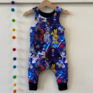 Galaxies edgy dungarees 6-9 months