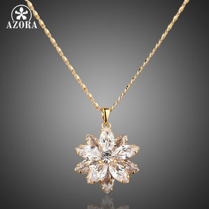 Crystal Paved Pendant Necklace