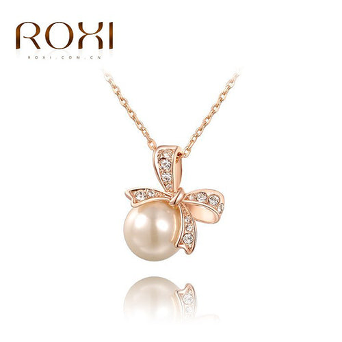 Bow Pearl Necklace