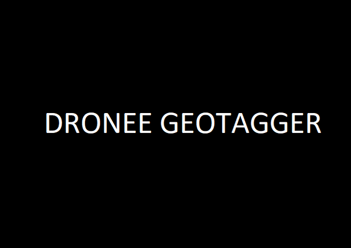Dronee Geotagger- geotagging in browser automatically