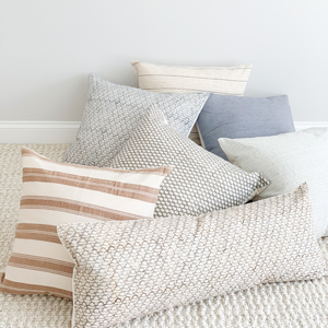 Throw Pillows - Handwoven and Handblock Printed