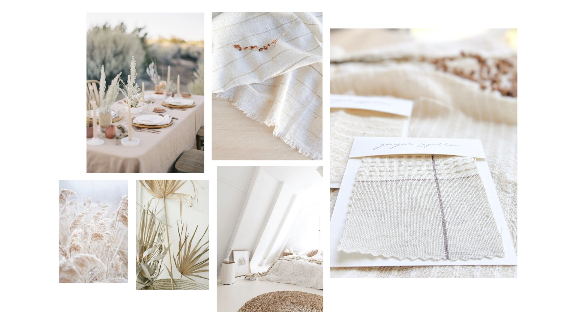 The Flowers of Cotton Collection by Ginger Sparrow, a modern, handcrafted, home decor brand.