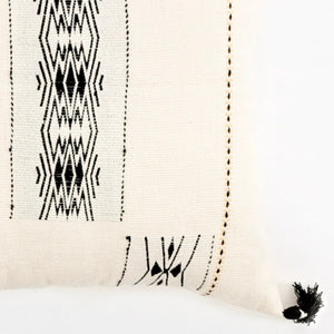 Pillow combinations with a soft ivory pillow in 18x18 inch size featuring traditional Indian tribal motifs. Handcrafted by Ginger Sparrow, a modern home decor brand. Perfect for #livingroomdesign and #bedroomdecorideas