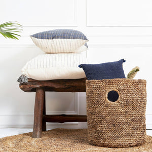 Banana Fiber Laundry Hamper. Perfect to stash linen, toys, blankets, pillows.
