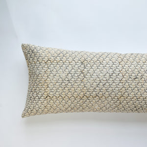 Phulara Throw Pillow - Grey Mustard