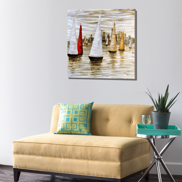 Sailing Boats on Metal Canvas - paintingsonline.com.au