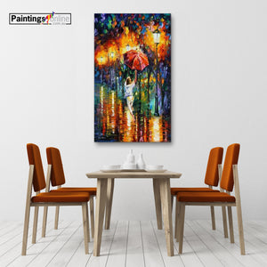 Stroll in downpour - paintingsonline.com.au