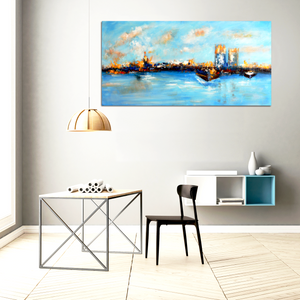 Blue Cities - paintingsonline.com.au