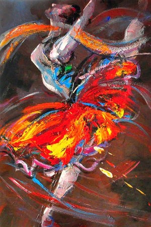 Ballet Butterfly Swirling - paintingsonline.com.au