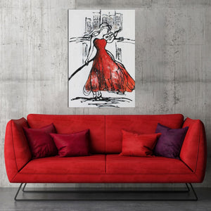 Red Night's Violin - paintingsonline.com.au