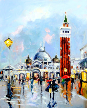 Evening Lamps On - paintingsonline.com.au