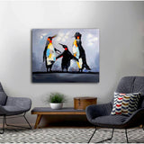Happy Feet Family - paintingsonline.com.au