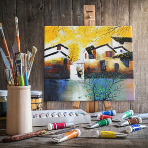 Houses By The River - paintingsonline.com.au